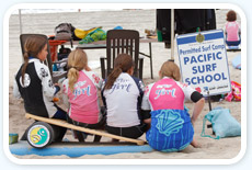 Girls in the Pacific Surf School