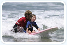 Kid Learning To Surf Our Pacific Beach Mission Lessons