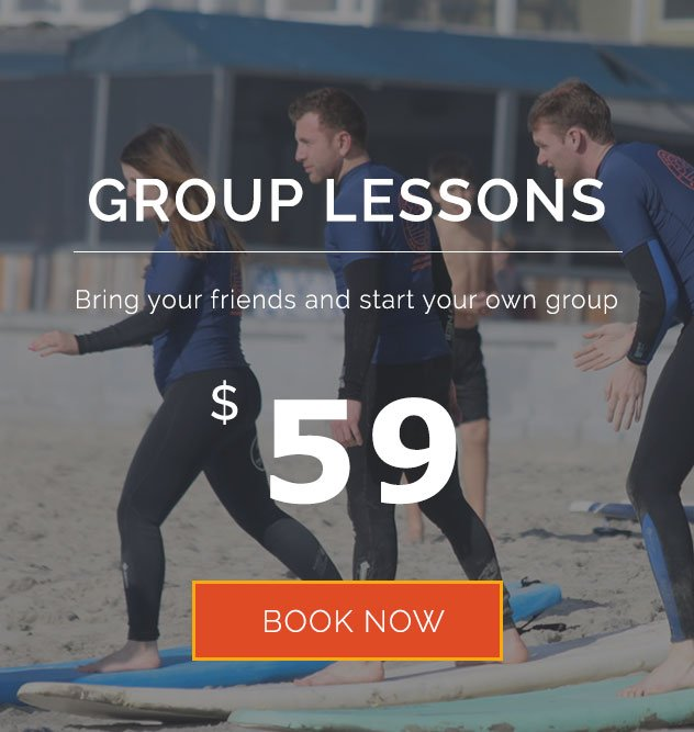 Group learning to surf